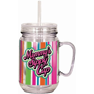 Spoontiques Mommy's Sippy Cup 18oz Acrylic Mason Jar (17921)