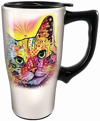 Spoontiques Dean Russo™ Cat Ceramic Travel Mug (12771)