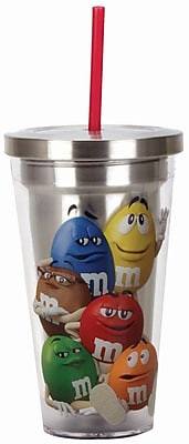 Spoontiques M&M's™ Characters 16oz Stainless Steel Cup with Straw (20503)