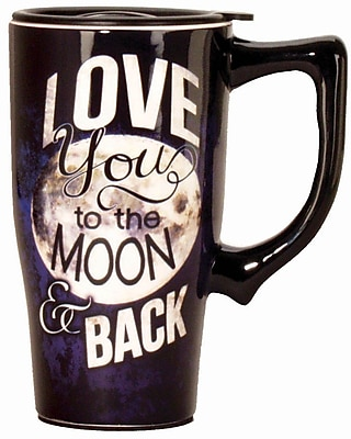 Spoontiques Moon & Back Ceramic Travel Mug (12441)