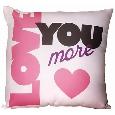 Spoontiques Love You More Pillow (19619)