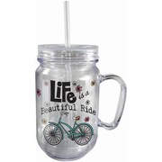 Spoontiques Beautiful Ride 18oz Acrylic Mason Jar (18042)