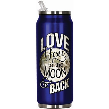 Spoontiques Moon & Back 12oz Stainless Steel Beverage Can (20910)