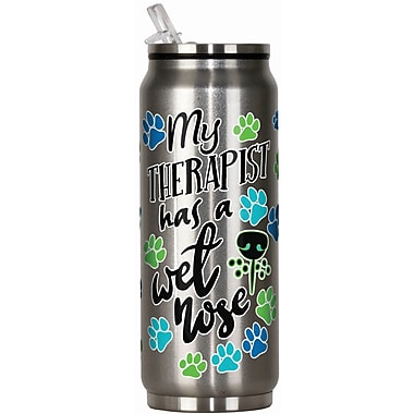 Spoontiques Therapist Has a Wet Nose 12oz Stainless Steel Beverage Can (20912)