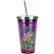 Spoontiques Aunty Acid™ Crazy Cat Lady 16oz Stainless Steel Cup with Straw (20501)