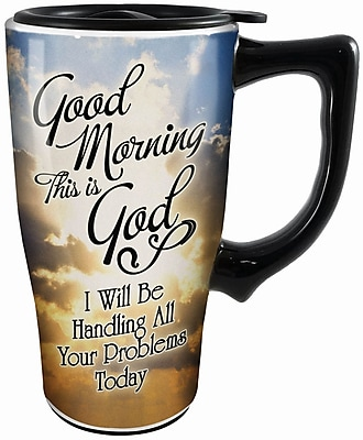 Spoontiques Good Morning Ceramic Travel Mug (12775)