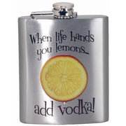 Spoontiques When Life Hands You Lemons Hip Flask (15729)