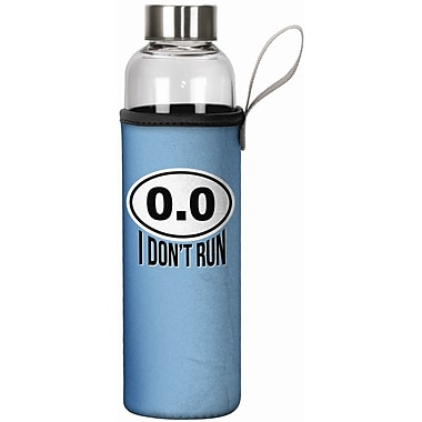 Spoontiques I Don't Run 20oz Glass Bottle with Sleeve (19916)