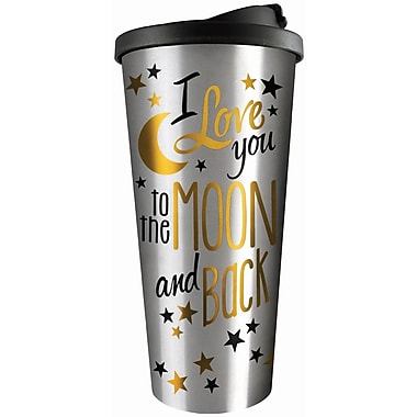 Spoontiques Moon & Back Stainless Travel Mug (20804)