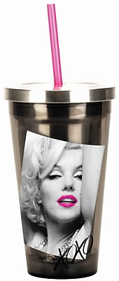 Spoontiques Marilyn Monroe™ 16oz Stainless Steel Cup with Straw (20500)