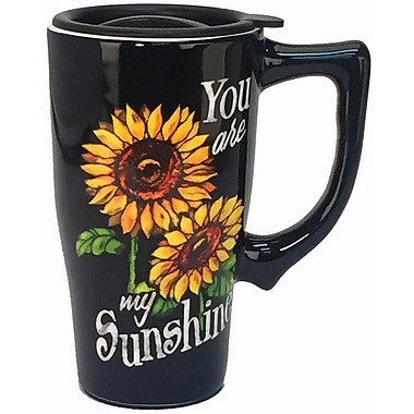 Spoontiques You Are My Sunshine Ceramic Travel Mug (12744)