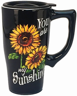 Spoontiques You Are My Sunshine Ceramic Travel Mug (12744)