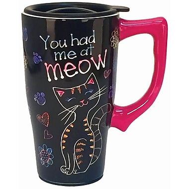 Spoontiques You Had Me at Meow Ceramic Travel Mug (12748)