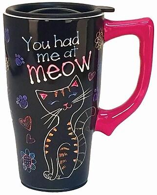 Spoontiques You Had Me at Meow Ceramic Travel Mug (12748)