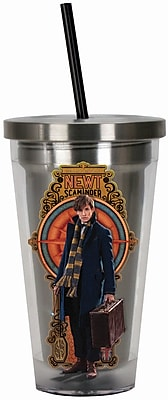 Spoontiques Fantastic Beasts™ 16oz Stainless Steel Cup with Straw (20515)