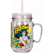 Spoontiques DC Comics™ Wonder Woman™ 18oz Acrylic Mason Jar (17965)