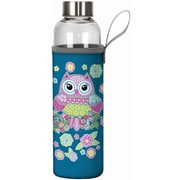 Spoontiques Owl 20oz Glass Bottle with Sleeve (19906)