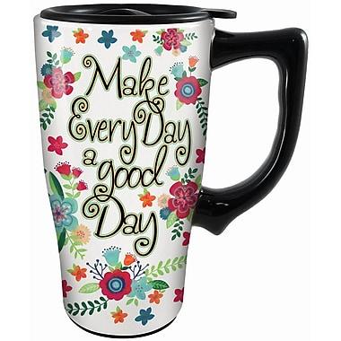 Spoontiques A Good Day Ceramic Travel Mug (12777)