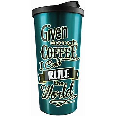 Spoontiques Rule the World Stainless Travel Mug (20821)