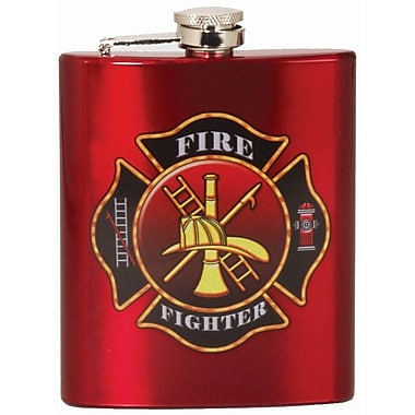 Spoontiques Firefighter Hip Flask (15652)