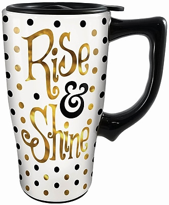 Spoontiques Rise & Shine Ceramic Travel Mug (12784)