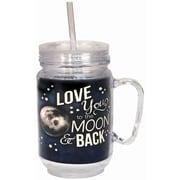 Spoontiques Moon & Back 18oz Acrylic Mason Jar (17879)