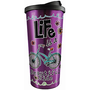 Spoontiques Beautiful Ride Stainless Travel Mug (20819)