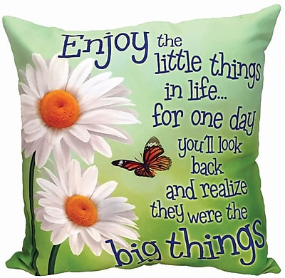 Spoontiques Little Things in Life Pillow (19630)