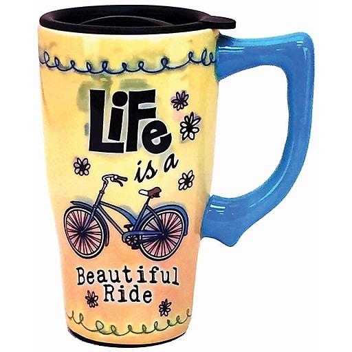 Spoontiques Beautiful Ride Ceramic Travel Mug (12742)