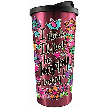 Spoontiques Happy Today Stainless Travel Mug (20820)