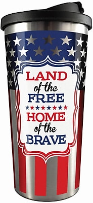 Spoontiques Land of the Free Stainless Travel Mug (20823)