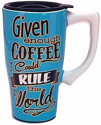 Spoontiques Rule the World Ceramic Travel Mug (12741)