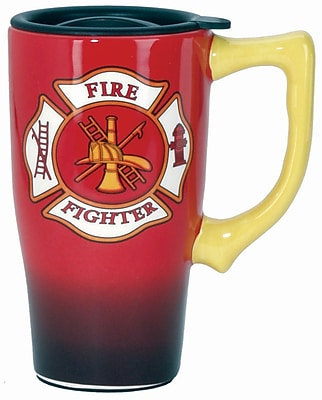 Spoontiques Firefighter Ceramic Travel Mug (11781)