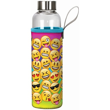 Spoontiques Emojis 20oz Glass Bottle with Sleeve (19905)
