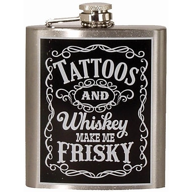 Spoontiques Tattoos & Whiskey Hip Flask (15751)