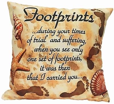 Spoontiques Footprints Pillow (19632)
