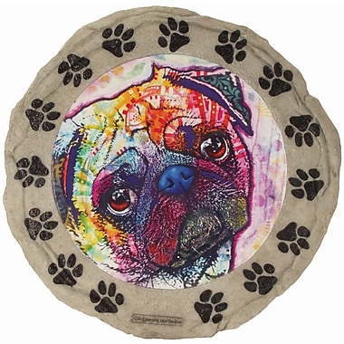 Spoontiques Dean Russo™ Pug Stepping Stone (13293)