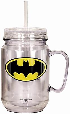 Spoontiques DC Comics™ Batman™ Logo 18oz Acrylic Mason Jar (17903)