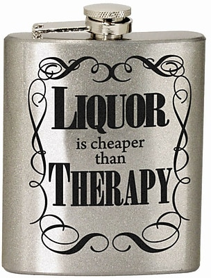 Spoontiques Liquor Therapy Hip Flask (15733)