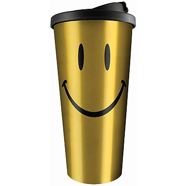 Spoontiques Smiley Face Stainless Travel Mug (20810)