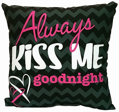Spoontiques Always Kiss Me Goodnight Pillow (19636)