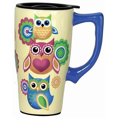Spoontiques Owls Ceramic Travel Mug (12562)