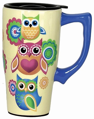 Spoontiques Owls Ceramic Travel Mug (12562)