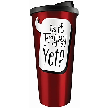 Spoontiques Is It Friday Yet Stainless Travel Mug (20814)