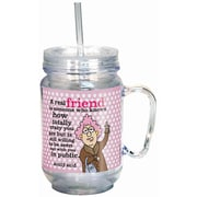 Spoontiques Aunty Acid™ Real Friend 18oz Acrylic Mason Jar (17880)