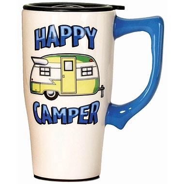 Spoontiques Happy Camper Ceramic Travel Mug (12435)