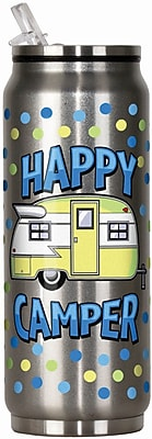 Spoontiques Happy Camper 12oz Stainless Steel Beverage Can (20913)