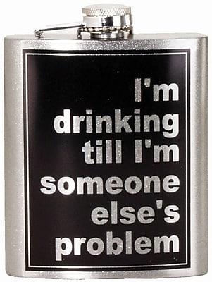 Spoontiques Someone Else's Problem Hip Flask (15747)
