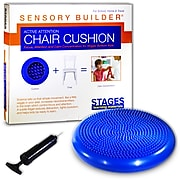 "Stages Learning Materials Sensory Builder® Active Attention Chair Cushion, 13"" Diameter, PVC, Blue (SLM2101)"
