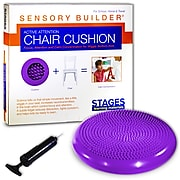 "Stages Learning Materials Sensory Builder® Active Attention Chair Cushion, 13"" Diameter, PVC, Purple (SLM2103)"